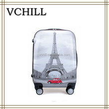 Effel Tower Printed Hard Shell Travel Trolley ABS Luggage