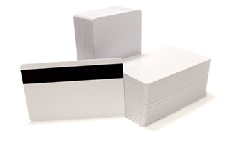 Blank Inkjet CR80 PVC Plastic Cards with LoCo Magnetic Stripe