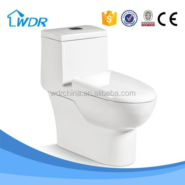 One Piece quality siphon flushing new s trap drop over toilet