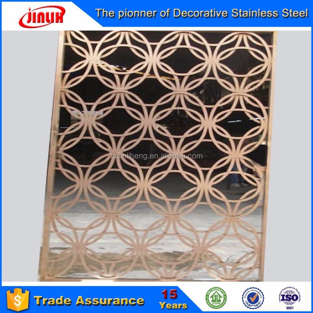 Factory Supply 201 304 316 color Stainless Steel metal Screen/panel