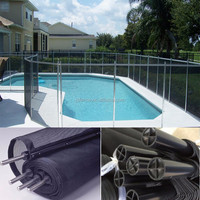 Outdoor Powder Coted Flat Top Swimming Pool Fence