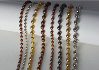 decorative bead curtain with metal ball chain