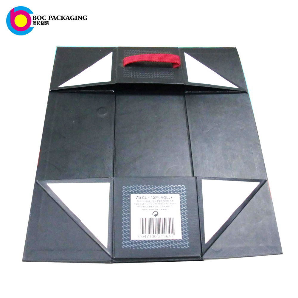 manufacturer Foldable single wine gift boxes for one bottle wine packaging