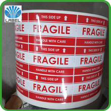 Red urgent and fragile shipping mark self adhesive label