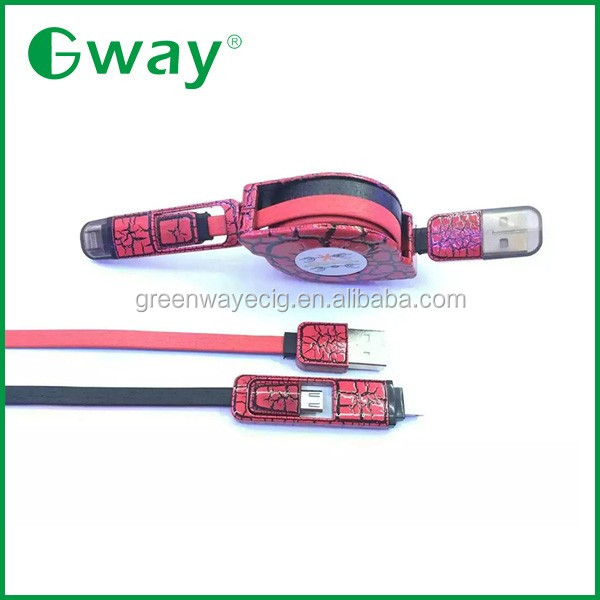 Colorful casing 85cm usb to micro retractable cable