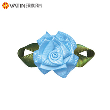 Wholesale Custom Florist Supplies Diy Handmade Craft Small Satin Silk Ribbon Flowers for Making Ribbon bouquet