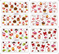 sweet cake fruit present nail sticker decal water transfer BOP011-014