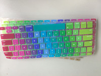 Hot selling Mixed Color keyboard cover for macbook keyboard skin cover silicon+ PC case factory supplier