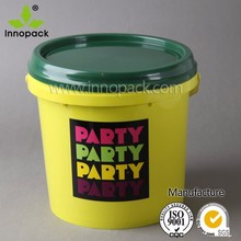 5L food grade small plastic buckets with lids and handle