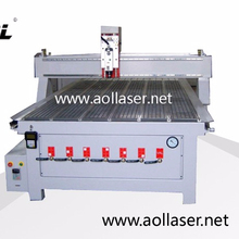 AOL1325 Wood Door Engraving CNC Machine/Furniture Industry Using Woodworking CNC Router 1325 with Rotary Attachment Device