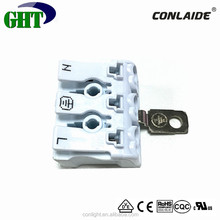 UL | VDE Quality Assurance Easy Mounting Quick Release 3 Pin Wire Connector with Earthing Plate