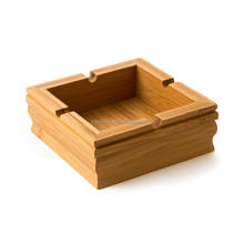 Newest design Personalized Cheap Bamboo ashtray