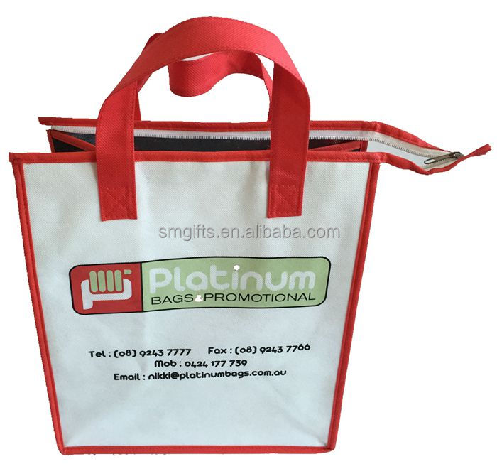 waterproof plastic non woven material beer can insulated cooler bag
