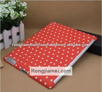 Soft touch silicone hot sale silicone cover case shell for Ipad mini dot red online shop