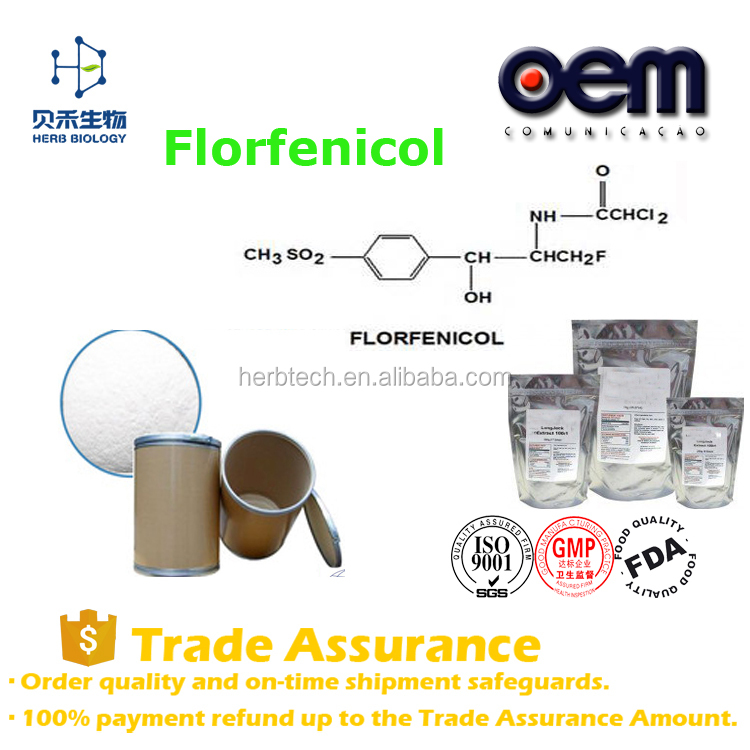 Factory Supply High Purity Veterinary antimicrobial drugs / Florfenicol powder/ 73231-34-2