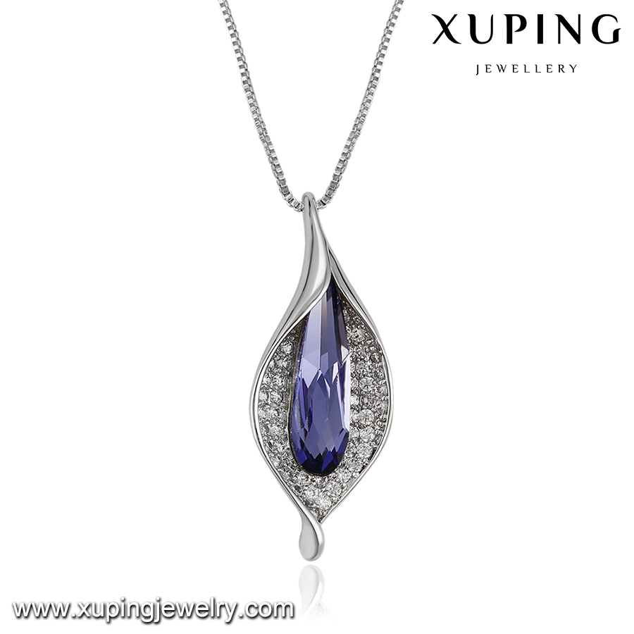 43366-xuping fashion diffuser pendant necklace with crystals from Swarovski lovely pendant necklace