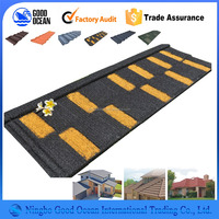 Modern roof design bond tiles stone coated steel roof tile price
