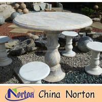 Marble table and chair italian marble coffee table house garden decoration NTS-B085R