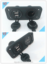 Multi dual USB power socket fit for iphone ipad GPS MP4 charging