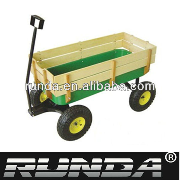 wooden kids wagon stainless steel tool carts