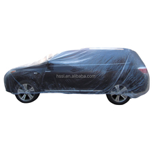 Disposable Plastic Car Cover(recycled or virgin material)
