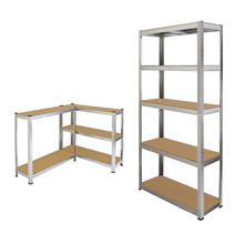 5 tier cheap light duty warehouse rack metal storage shelf for kitchen and bathroom