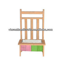Chair shape wooden flower pot for garden deocr