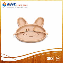 Safety Animal Natural Bamboo Tray Serving Wooden Food Tray