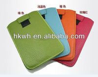 Sewing Size Universal hook and loop fastener PU Leather Sleeve Bag Case For iPad Mini 2/3/4