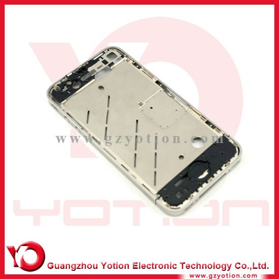 Set diamond Bezel Mid Frame Middle Chassis Housing Plate for iphone 4S