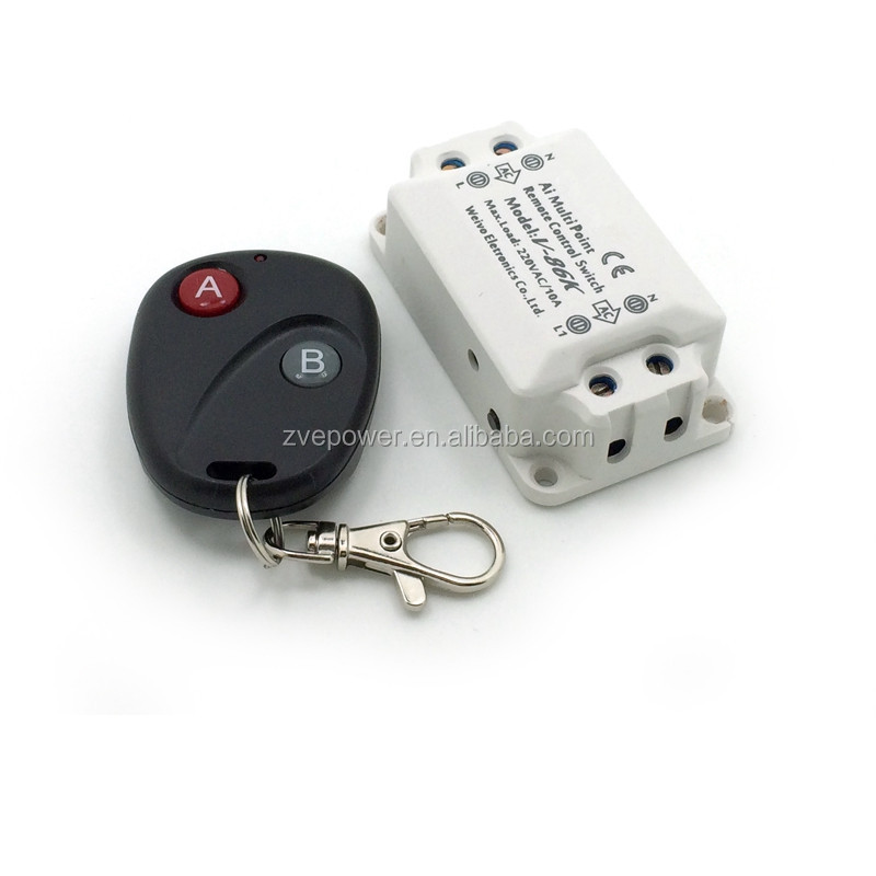 AC220V Wireless Remote Control Switch RF Relay Transmitter Receiver