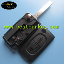 Topbest auto 2 button car key remote flip control case cover blank car remote control case