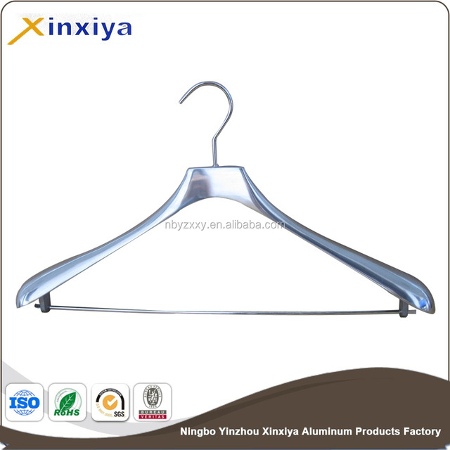 Aluminum clothes hanger clothes rack chrome plating finished
