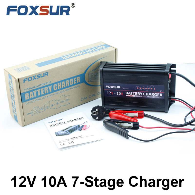 Promotional super quality Big power 12V 10A Lead Acid Battery Car Charger Electrical Vehicle car Battery Charger buy direct from