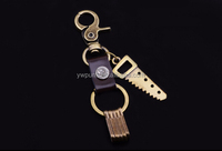mens custom key chain key chains metals gifts bronze saw blade charms