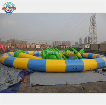 0.9mm PVC tarpaulin durable inflatable water pool for water ball