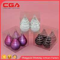 Hot sale chinese factory produce hanging handmade plastic baubles for christmas ornaments