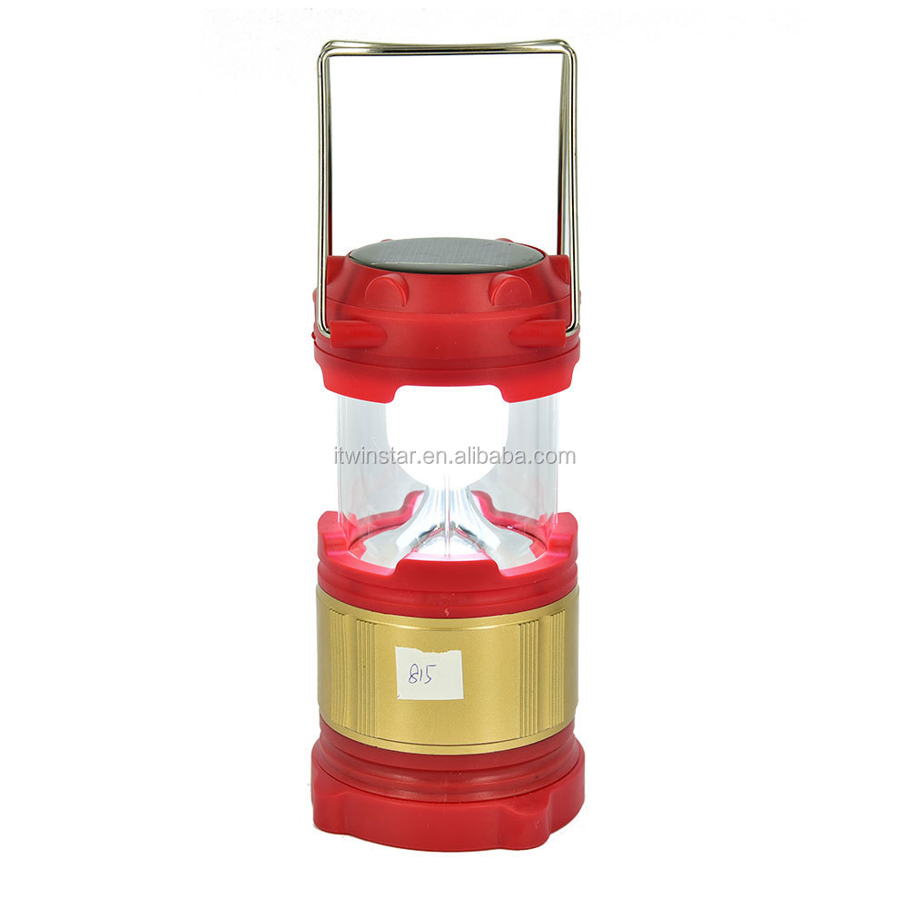 Rechargeable camping light with stretch switch solar camping lantern & mobile phone charger led lantern camping lamp