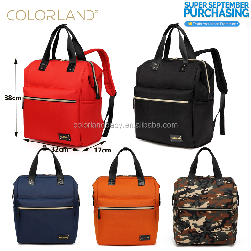 Colorland New Functional Mummy Bag Waterproof High Class Baby Diaper Bag Lady Backpack