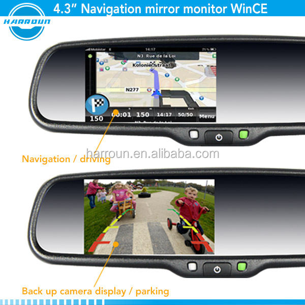 auto glass toyota corolla auto glass gps rearview mirror gps navigator with gps bluetooth camera,radar detector