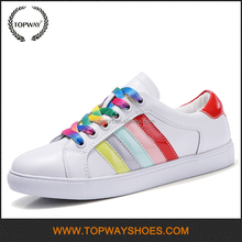 New arrival basic colorful lace up sports skateboard shoes for women