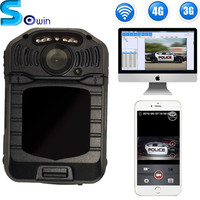 1080P Long distance remote control and watch 3g/4g lte wireless body worn camera
