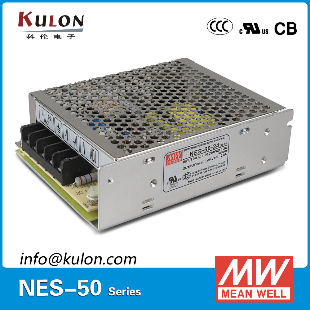 MEAN WELL 50w 48v ac dc click design switching Power Supply NES-50-48