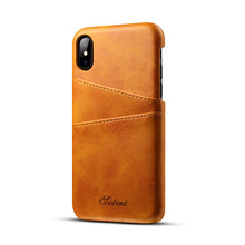 For iPhone 8 Premium Leather Case Protective Back Cover, For Iphone x Cell Phone case