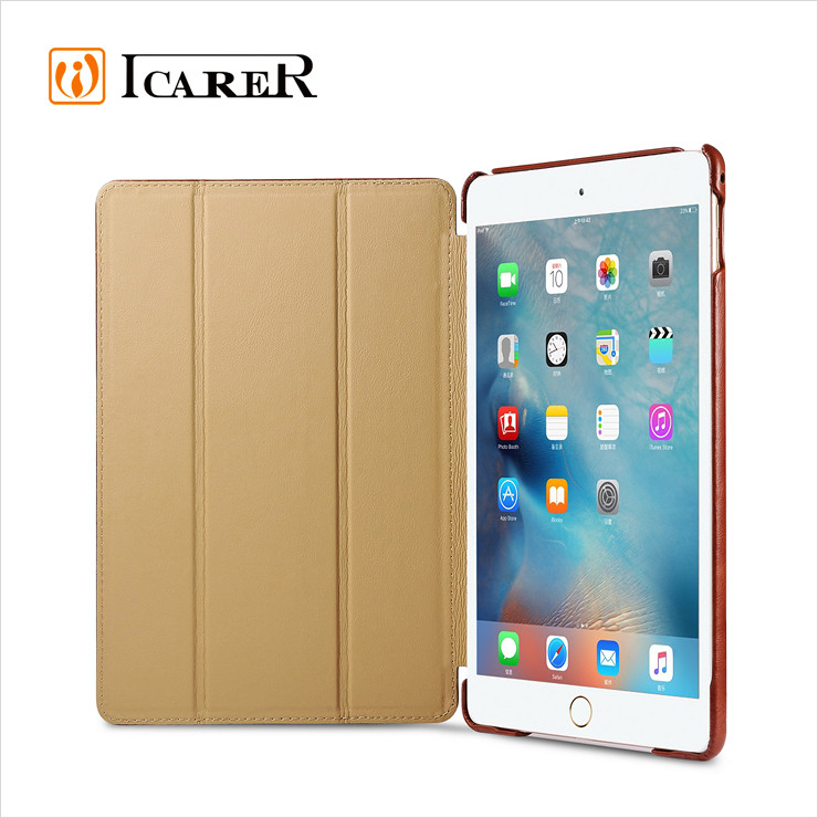 Newest Leather Smart Case for iPad mini 4 Wake Up Function