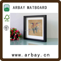 custom size and hot sale wholesale white uncut matboard and high quality digital p o frame matboard