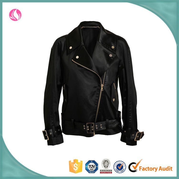 Women new design faux leather jacket