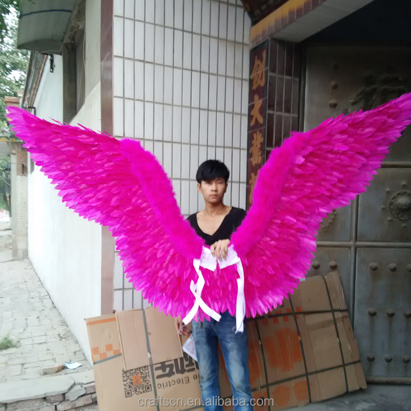 large fairy wings made of artifical feathers for party show