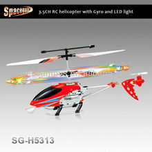 SG-H5313 2013 The Most Popular! 3ch indoor rc led helicopter with gyroscope