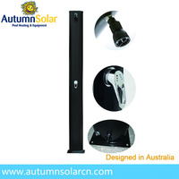 40L Aluminum solar outdoor shower besides swimming pool